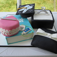 Engagement/graduation Cake One of my fellow Dental Hygienists graduated from school. She also recently got engaged and asked if I could combine the 2 ideas....