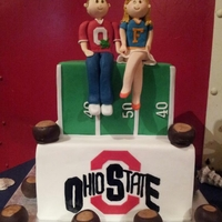Ohio State Grooms Cake   A quick grooms cake... inspiration was gotten from other cakes, but with a twist to make it unique to this couple.