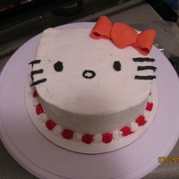 Hello Kitty My first carved cake. Chocolate fudge cake iced with indidebi's buttercream. Gift for a good friend's daughter's birthday
