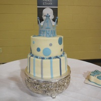 Little Prince With Circles And Stripes, Crown, And Smash Cake
