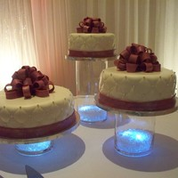Matt And Erica Cakes were marble with vanilla buttercream, vanilla with lemon and raspberry fillings, chocolate with peanut butter cream cheese filling....
