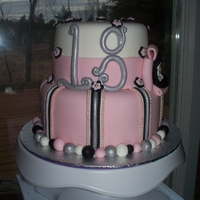 "Parker's 18Th Mom and Dad wanted something pretty and feminine for a young lady turning 18 so this is what I came up with. 6"" and 8"" tiers both..."