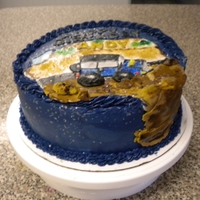Off Road Cake For A 47Th Birthday Had a quick order for a surprise cake with a jeep and off road theme and BLUE!. With 2 days notice this is what i came up with! Marble cake...