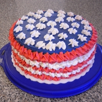 4Th Of July   Checkerboard cake with IMBC