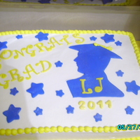 Graduation Cake chocolate cake with butter cream icing fondant accents