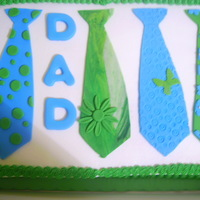 Fathers Day Tie Cake Chocolate cake with vanilla butter cream fondant ties