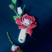 Gumpaste Flower: Love Grandiflora Rose Love grandiflora rose