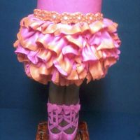 Tiny Dancer Cake this cake was designed for a tween ballerina, the legs are made from rkt and modeling chocolate covering piping. The dress was made by...