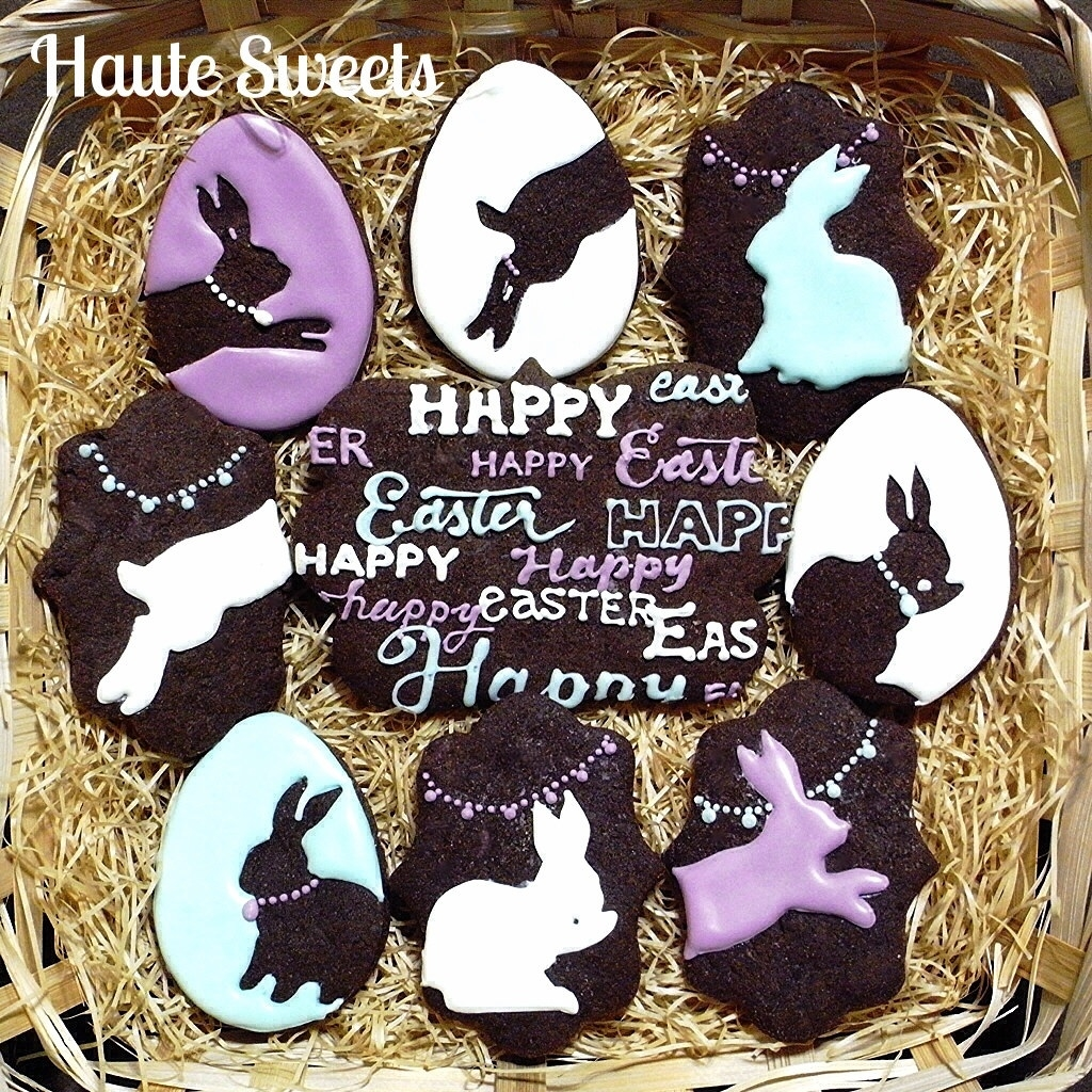 Bunny Silhouette Easter Cookies