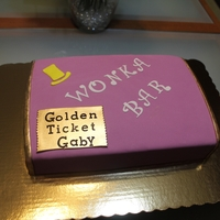 Willy Wonka Bar Cake