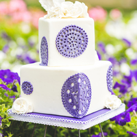 "Bohemian Wedding Cake I Used Biscuit Cutters To Cut Out The Rounds Amp Used Piping Tips To Cut Out All The Decorations In The Doilies  Bohemian Wedding cakeI used biscuit cutters to cut out the rounds & used piping tips to cut out all the decorations in the ""..."
