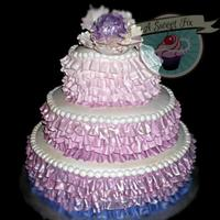 Quinceanera Purple Ruffle Ombre   *Quinceanera Purple Ruffle Ombre