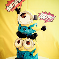 Despicable Me Minion Birthday Cake This Despicable Me Minion birthday cake was made for my son's first birthday. It was the first cake I have made in over 4 years!