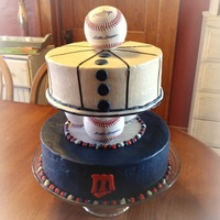 Minnesota Twins Birthday Cake 3 Baseballs Separate The 2 Tiers Minnesota twins birthday cake. 3 baseballs separate the 2 tiers.