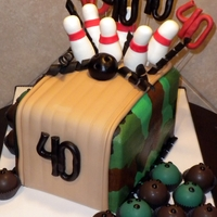40Th Birthday   Bowling/camo theme, for the hunter who had a fun bowling birthday!
