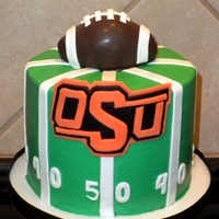 Osu Birthday   Football is a cakeball shaped as a football, field cake, for a husbands birthday!