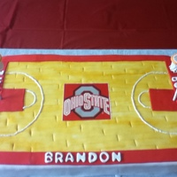 Basketball Birthday Cake  My son's 13th birthday cake. He first wanted the OSU football stadium and then wanted a basketball court so I gave him the OSU...