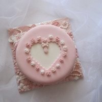 Heart Cake - Pink