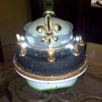 Super Dome  NEW ORLEANS SAINTS SUPER DOME CAKE WITH INDIVIDUAL LED LIGHTS. DOME PERIMETER MADE OF GUM PASTE AND PAINTED WITH BLACK AND GOLD LUSTER DUST...