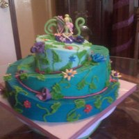 Tinkerbell Theme MY FIRST TOPSY TURVEY ATTEMPT FOR MY DAUGHTERS 3RD BIRTHDAY.