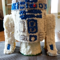 R2D2 R2D2 cake for my son's birthday