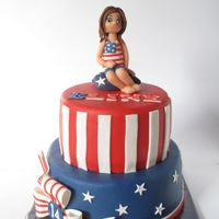 American Flag Is Favourite! My nice just loves the design of your flag, so I made her this cake.