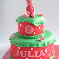 Piglet On Julia's Birthdaycake
