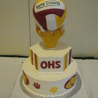 High School Volleyball Cake