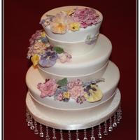 Victorian Garden This is actually a display cake that I made for The Crystallized Flower Company using the edible flowers. Absolutely delicious!!! hey are...