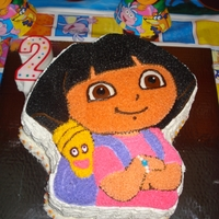 Danielle's Dora The Explorer Butter cream with strawberry filling