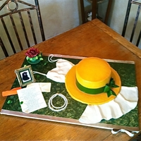 Anne Of Green Gables Bridal Shower 100% edible. Fondant picture frame (pieced together with from various molds) with edible image. Poem written to soon-to-be-bride from her...