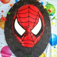 Spiderman Cake Fondant over WASC. Piping gel webs. Done for my son. TFL