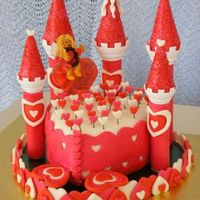 Cupids Castle   Fondant, stained glass candy, and cake make for a yummy valentine's treat for all my sweeties!