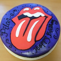 Rolling Stone Cake