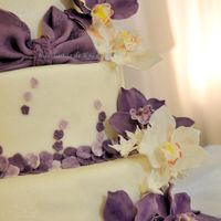 Orchid Wedding Cake