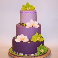Orchids Cake For Birthday