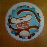 Monkey Cake Cake for my son's second birthday. Chocolate with mmf and chocolate bc. Took about 7 hours total.