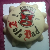 Bottle Cap Cake The bottle cap is a mimic of a San Miguel Beer (local and very popular) bottle cap with the date reflecting my FIL's birth year and &...