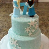 Frozen Themed Cake For My Daughters Birthday Frozen themed cake for my daughter's birthday.