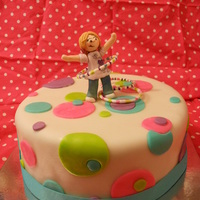 Hula Hoop Cake Done For A Sweet Little Girl Who Makes Hula Hoops To Sell   hula hoop cake done for a sweet little girl who makes hula hoops to sell