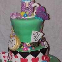 Alice In Wonderland Cake Made For A Childrens Theater Company Celebrating Their Final Show Alice in wonderland cake made for a children's theater company celebrating their final show