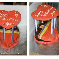 So Happy Together The cake is a heart shaped canopy bed of rolled fondant, double layer yellow cake with strawberry filling, ganache topped with a fondant...