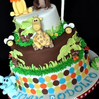 Animal Cake   Cake I made for my godson's 1st bday.