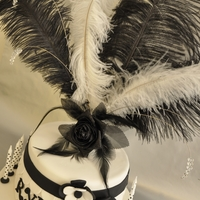 1920's Ruffled Dress - Hollywood Themed Cake