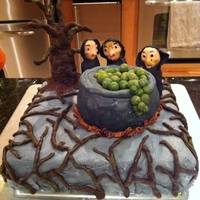 "Macbeth Cake   ""Double, double, toil and trouble"""