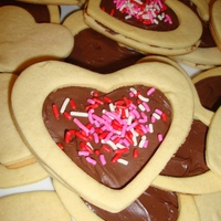 Valentine Cookies  I made these cookies for valentine's Day and just posting them now. These are butter cookies and I filled them with nuetella and...
