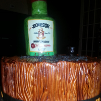 "Jameson Bottle Birthday Cake 12 Round Double Layer Marble Cake With Vanilla Buttercream And Fondant Hand Painted Jameson Label Jameson Bottle Birthday Cake 12"" round, double-layer marble cake with vanilla buttercream and fondant.Hand-painted Jameson label."