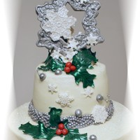 Snowflakes And Holly Winter Wedding