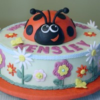 Ladybug And Flowers Cake For A First Birthday Truly A Fun Cake To Make Buttercream With Fondant And Gum Paste Decorations The Ladybug Is  Ladybug and Flowers cake for a first birthday. Truly a fun cake to make! Buttercream with fondant and gum paste decorations. The ladybug is...