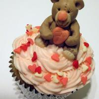 Teddy Bear Cupcake *Modeling Chocolate Teddy Bear Valentines Day Cupcake